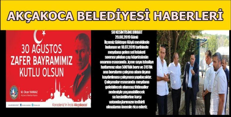 ZAFER BAYRAMI, SU KESİNTİSİ VE TOPLU TAŞIMA HABERLERİ