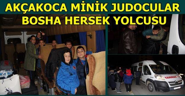 Akçakoca judocular Bosna Hersek'e gitti