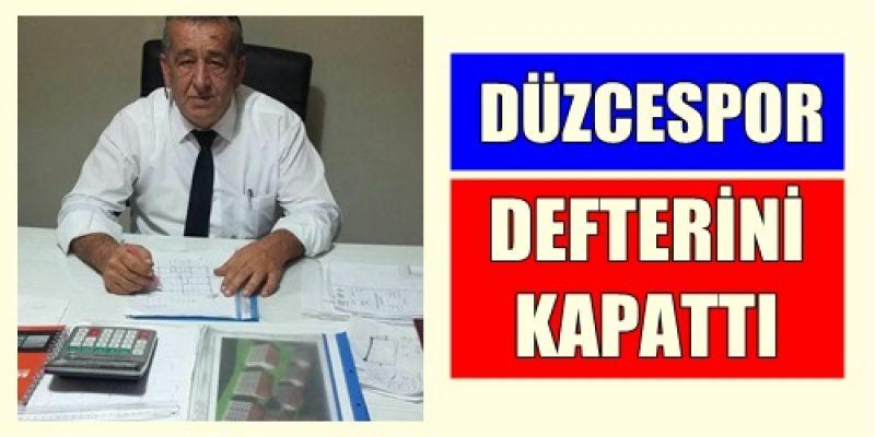PANDUL DÜZCE SPOR DEFTERİNİ KAPATTI