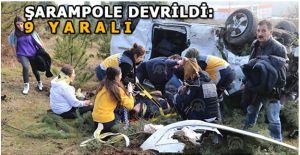 Anadolu Otoyolundaki Kazada 9 Kişi Yaralandı