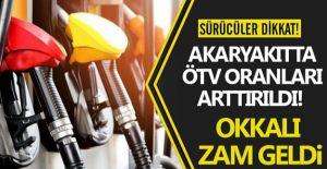 Akaryakıt ürünlerine ÖTV zammı yapıldı